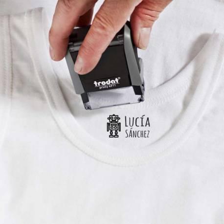 Sello textil marcar ropa