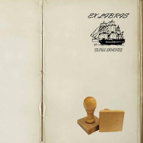 Sello Ex Libris Barco