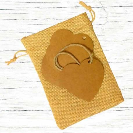 Etiquetas Kraft Corazón