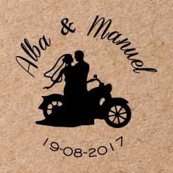 Sello para boda Moto 3