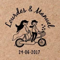 Sello para boda Bicicleta 3