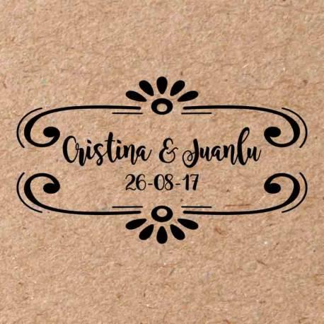 Sello para boda Boho 2