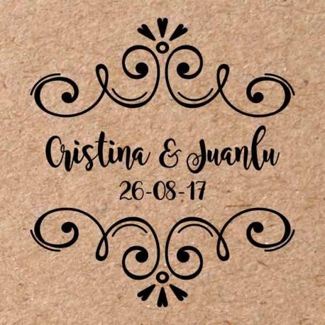 Sello para boda Boho 4