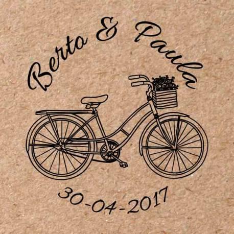 Sello para boda Bicicleta 2