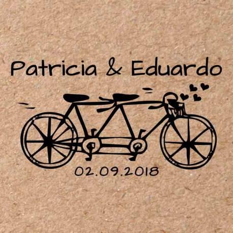 Sello para boda Bicicleta