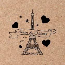 Sello para boda París