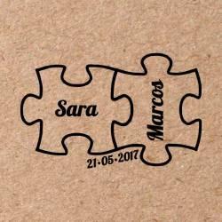 Sello para boda Puzzle