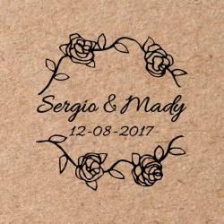 Sello para boda Rosas