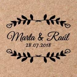 Sello para boda Ramas 7