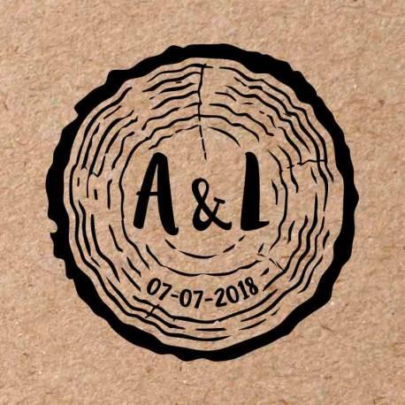 Sello para boda Árbol 5