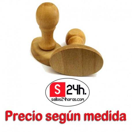Sello goma madera ovalado
