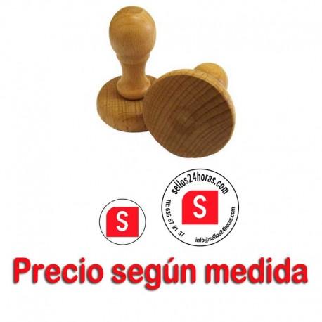 Sello goma madera redondo