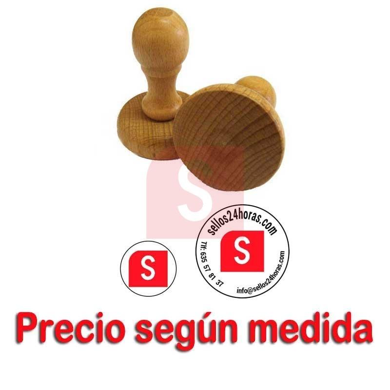 Sello De Madera Personalizado Sello De Caucho Redondo