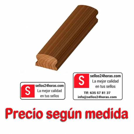 Sello goma madera grande